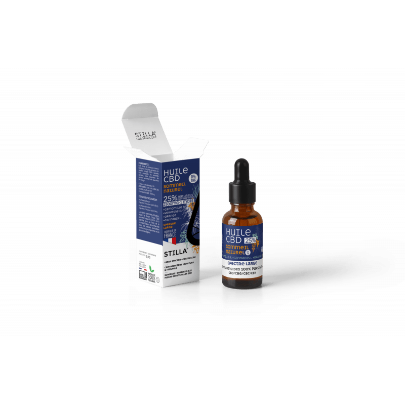 huile cbd 25% sommeil camomille