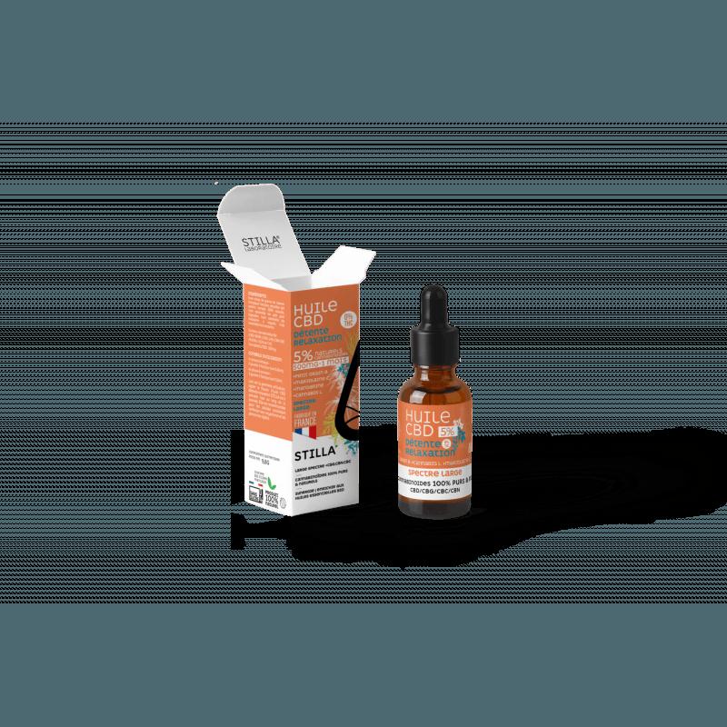 huile de cbd 5 % detente relaxation