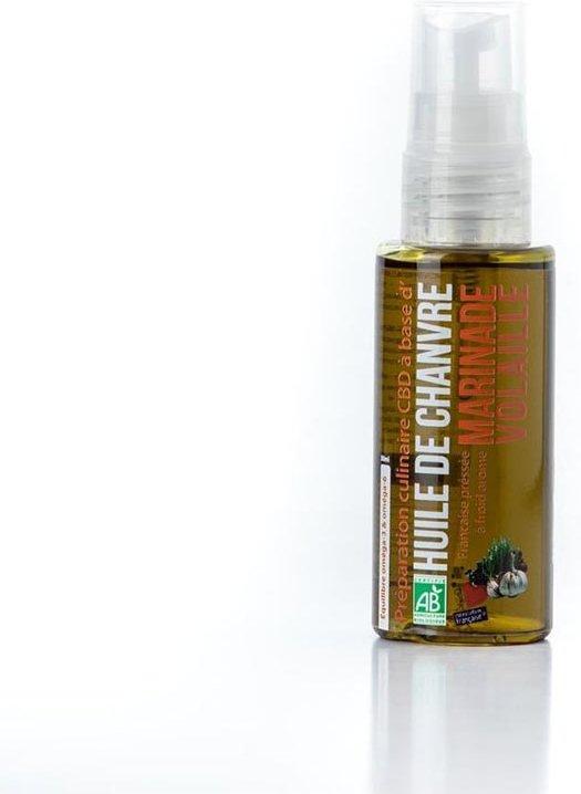 huile culinaire cbd bio marinade volaille
